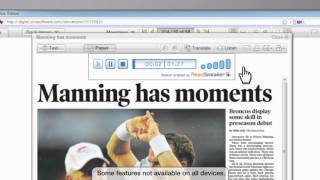 Denver Post Digital Replica Edition Tutorial Overview