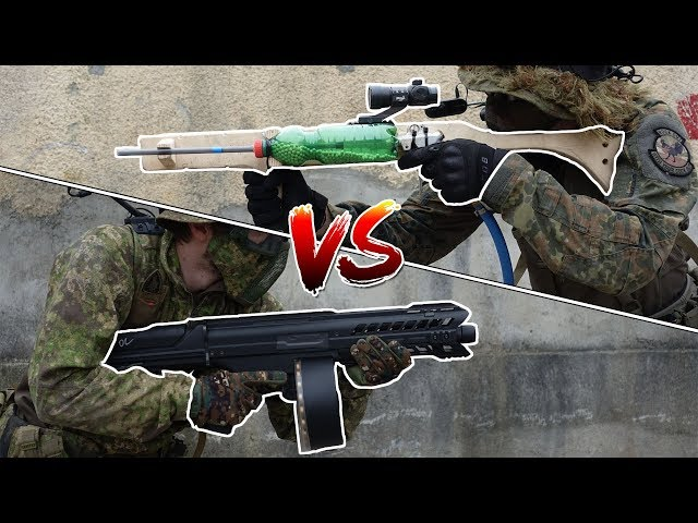 8$ AIRSOFT GUN VS AUTOMATIC SHOTGUN - Silo vs Fabi - 1vs1 CHALLENGE