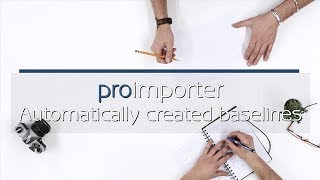 How to create baselines automatically with the proimporter