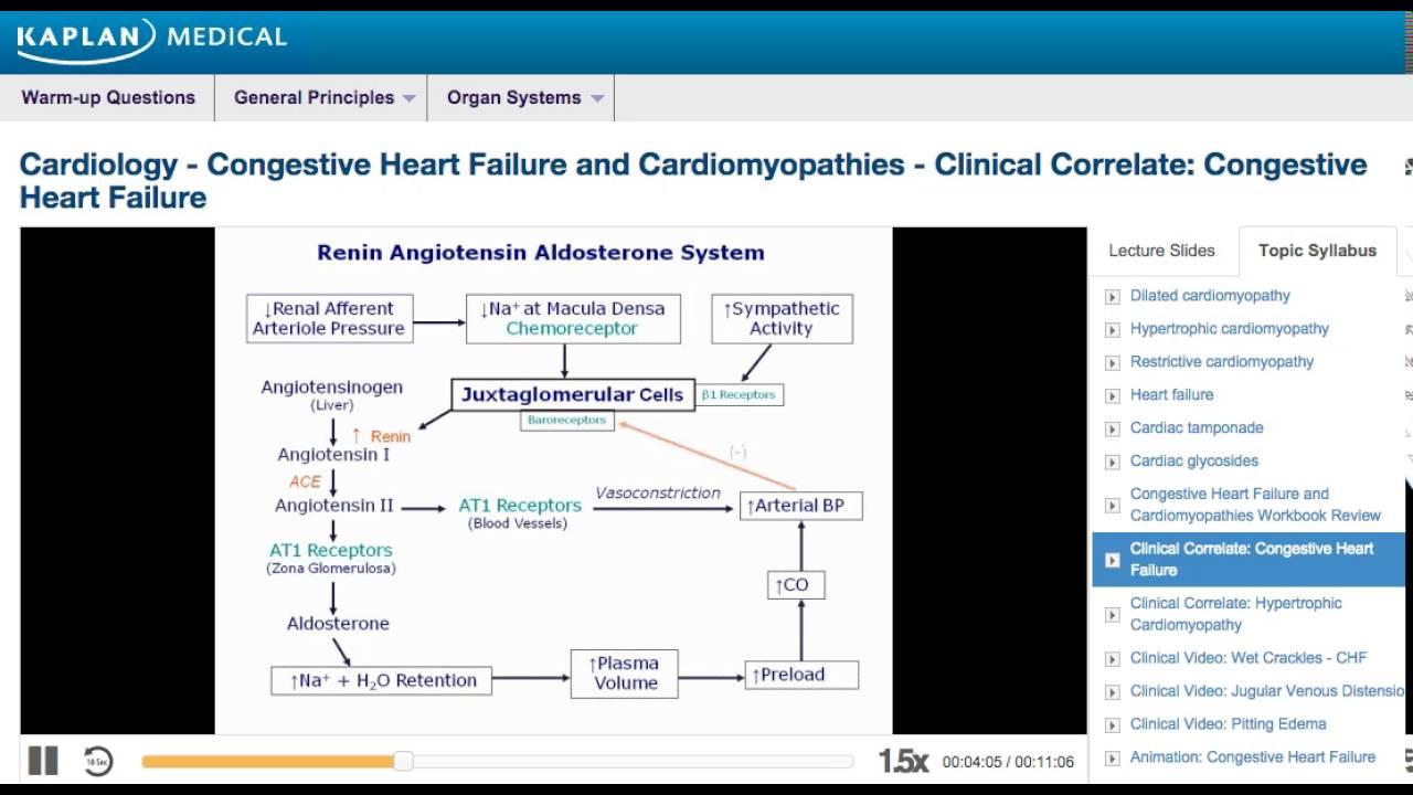 USMLE® Step 1 Cardiology: Congestive Heart Failure - Clinical Correlate