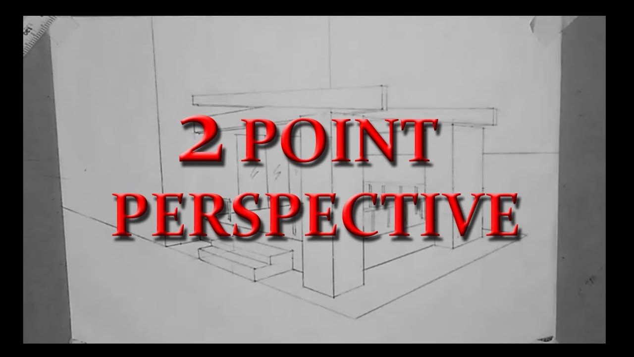 How To Draw A 2 Point Perspective   Exterior