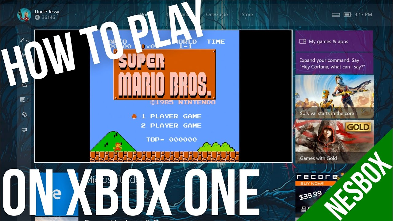 How To Play Nes Rom Games On Your Xbox One Nesbox Youtube