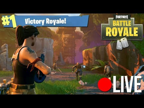 Fortnite Battle Royale Solo wins en andere fratsen.. - (GameMeneer Livestream 5-1-2018)