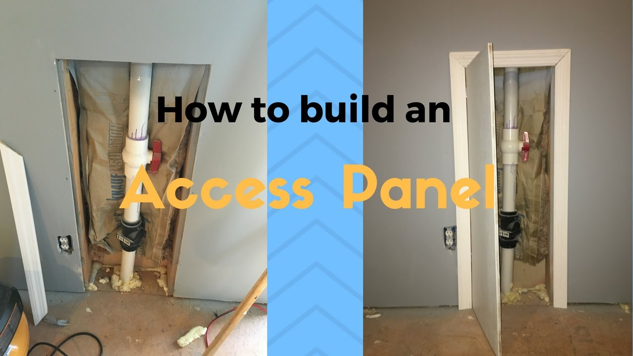 How To Build An Access Panel Youtube