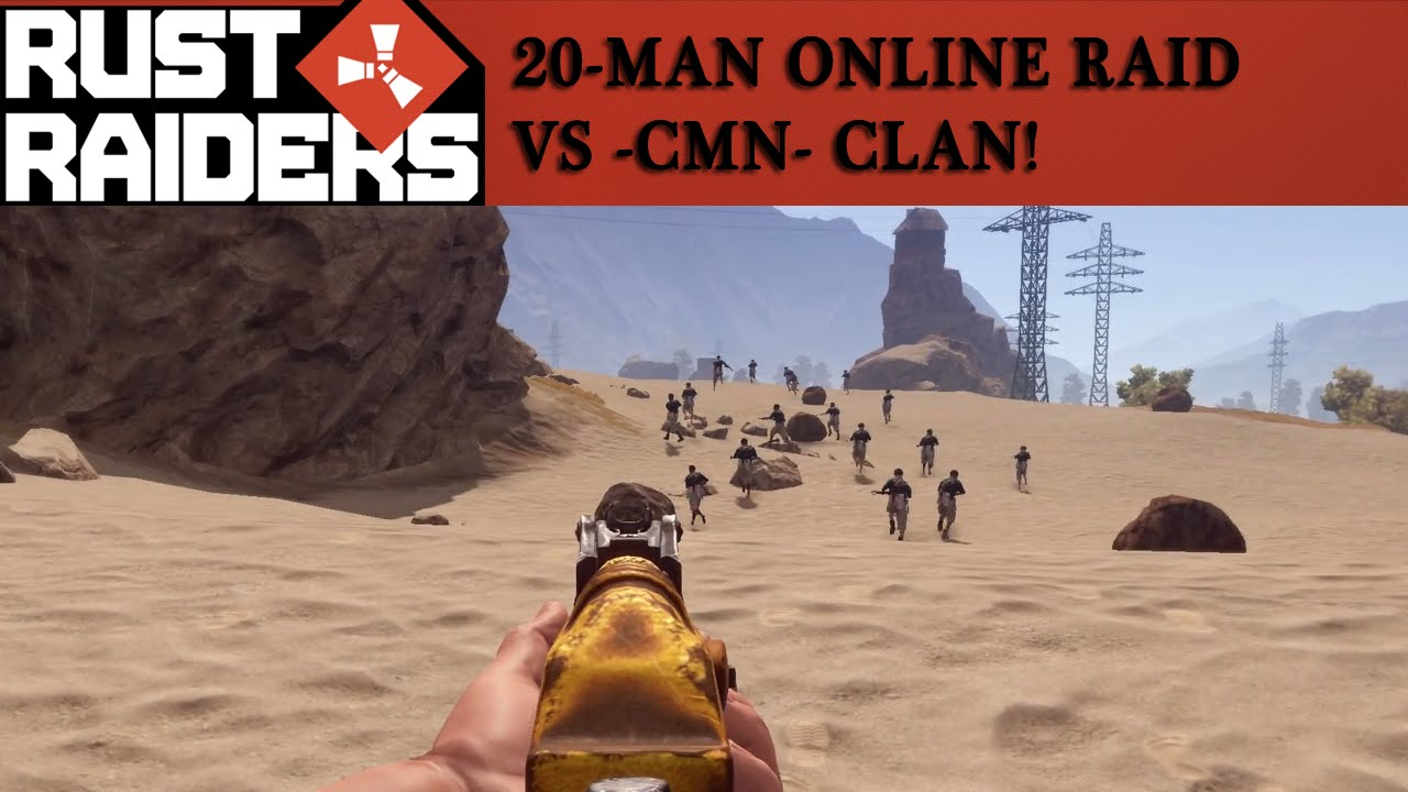 Rust Man Online Raid Vs CMn Clan On Rustopia UK Rust - Rustopia map us