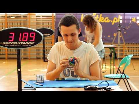 Krzysztof Natusiewicz megaminx NR 52 80 solve 4 Silesia Open 2012