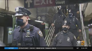 Mayor De Blasio, MTA At Odds Over Number Of Cops In Subway System