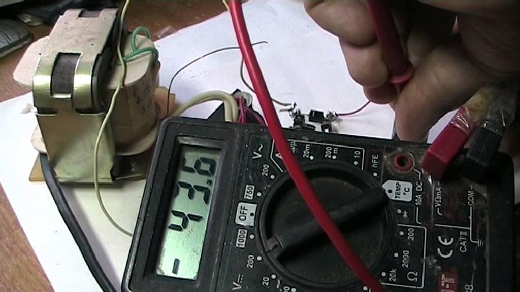 Как удвоить напряжение трансформатора без перемотки.