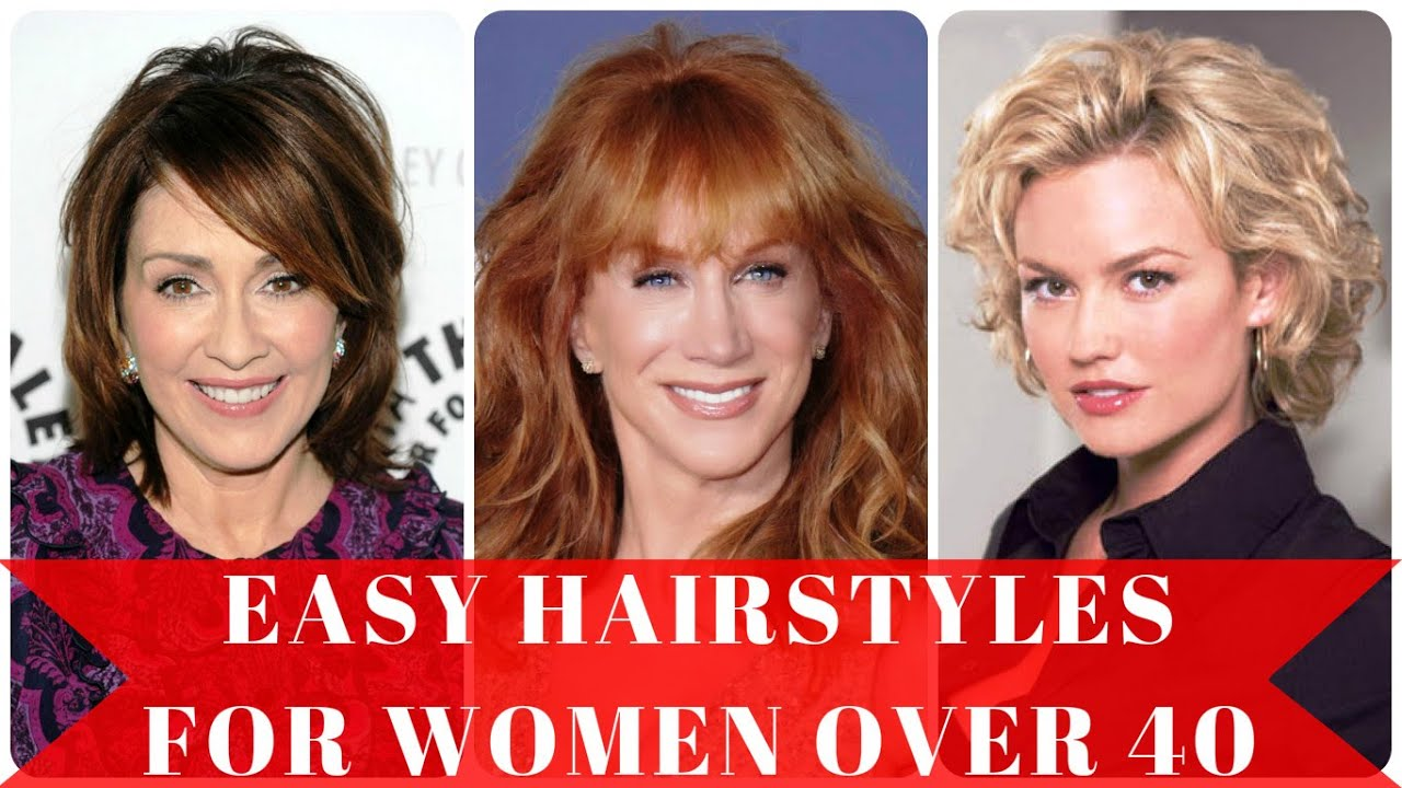 Easy hairstyles for women over 40 - YouTube