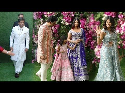 Bollywood Celebs Arriving @Mukesh Ambani's Son Akash Ambani MARRIAGE-SRK...