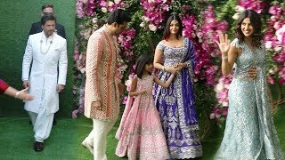 Bollywood Celebs Arriving @Mukesh Ambani's Son Akash Ambani MARRIAGE-SRK,Aishwarya,Abhishek,Priyanka