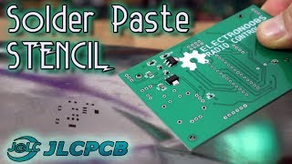 JLCPCB solder paste stencil order and use