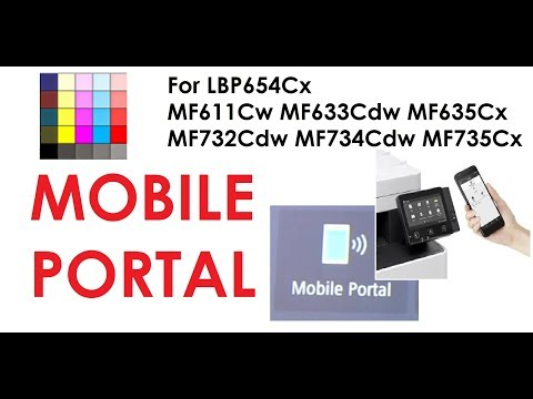 ImageClass MF632Cdw ISENSYS MF631Cw And Other MF630/730 Series - Mobile Portal (part3)