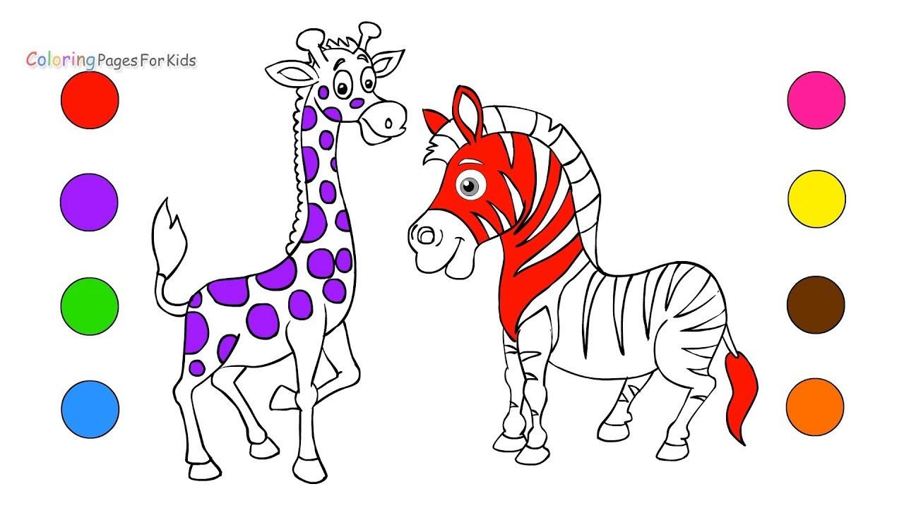 wild animals coloring pages for kids how to draw animals drawing art with markers to learn colors