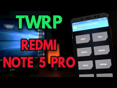 INSTALL TWRP on REDMI NOTE 5 PRO in 2 MINUTES