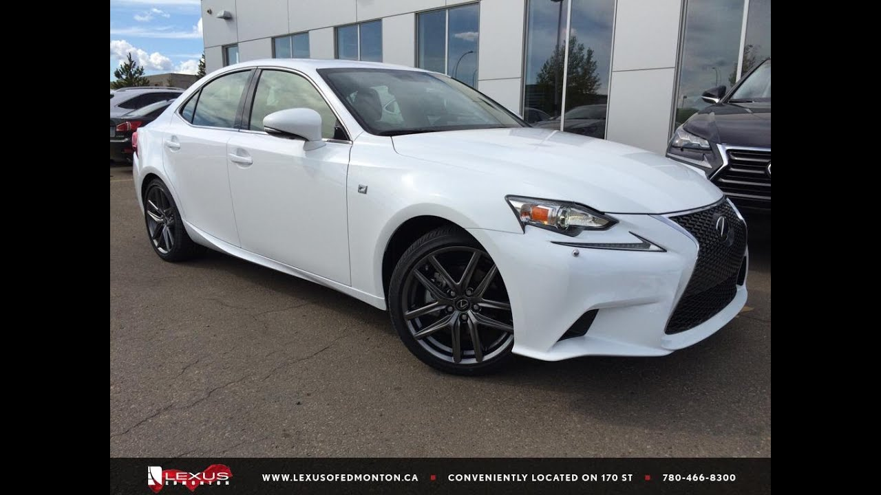 executive demo white 2015 lexus is 250 awd f sport series 2 review north edmonton youtube. Black Bedroom Furniture Sets. Home Design Ideas