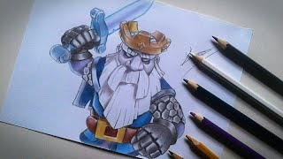 Desenhando o Fantasma Real - Nova carta do Clash Royale - Drawing Royal Ghost - Drawing Clash Royale