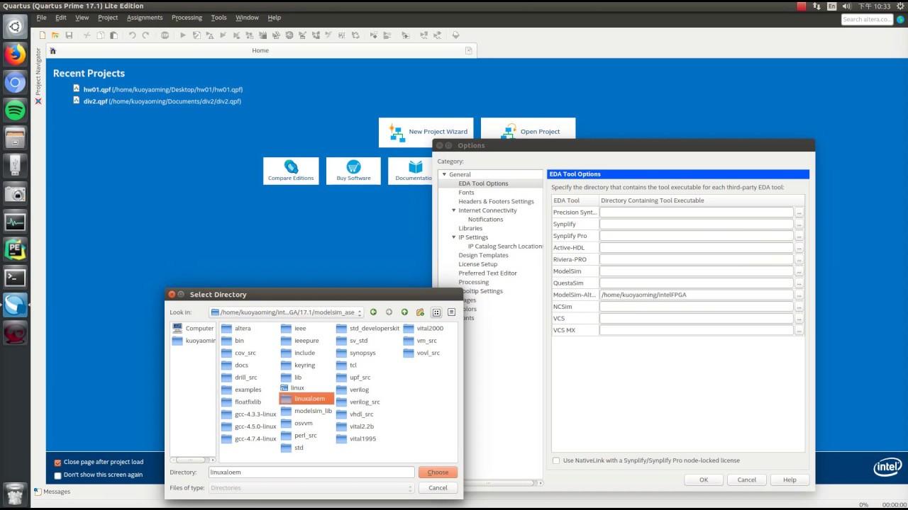 How to install Quartus & modelsim on Ubuntu 16 04 LTS