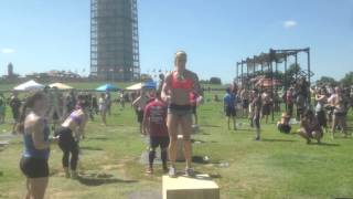 Michelle Crawford Killing Box Jumps at CrossFit Hope for Cures National Mall
