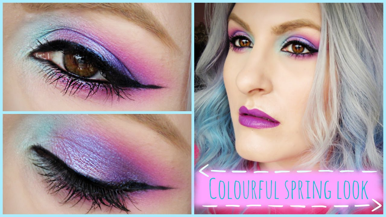 Vibrant Spring Makeup Look | Pretty In Colour | Urban Decay Spectrum Palette - YouTube