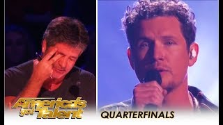 Simon Cowell BREAKS DOWN Crying On Live TV After Michael Ketterer on America's Got Talent