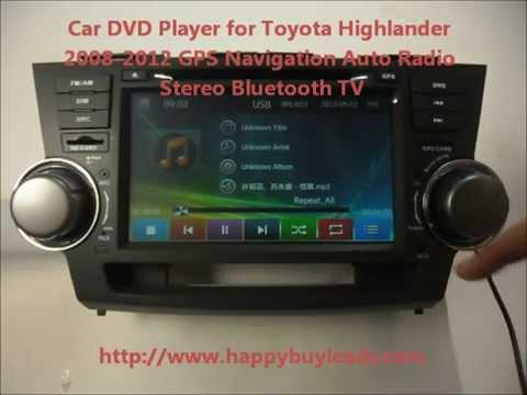 auto dvd player for toyota highlander 2008 2012 gps. Black Bedroom Furniture Sets. Home Design Ideas