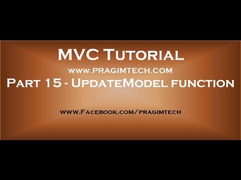 Part 15  Updatemodel function in mvc