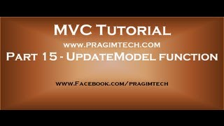 Part 15  Updatemodel function in mvc
