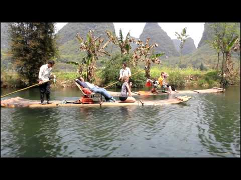 CHINA: Yángshuò - Yùlóng River Rafting (桂林:玉龙河竹排飘流)