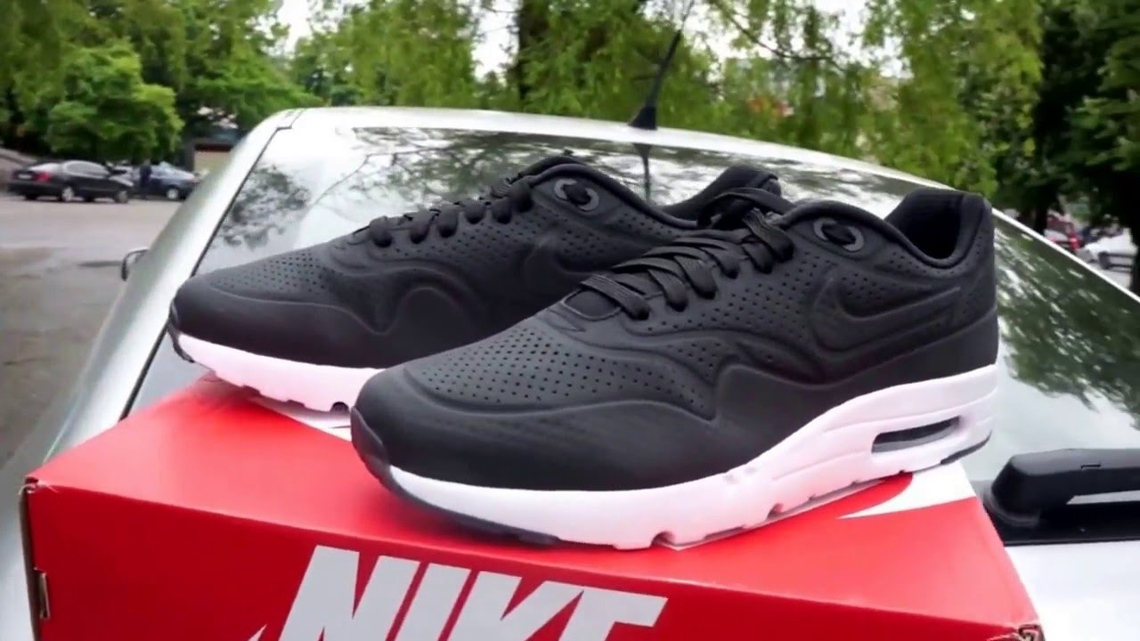 the latest 0deed e151d Nike Air Max 1 Ultra Moire Black black  White