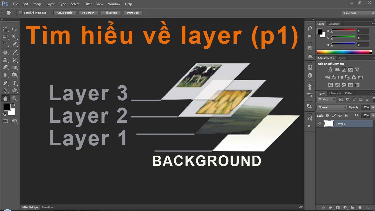 Photoshop CS6:Tìm hiểu về Layer và cách dùng – p01