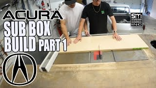 4th order bandpass subwoofer box build - Acura stereo system #13