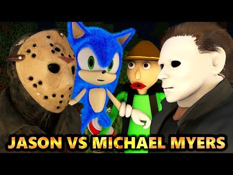 JASON vs MICHAEL MYERS & SONIC.EXE BALDI HALLOWEEN CHALLENGE! (official) Minecraft Animation