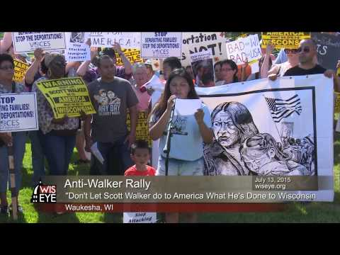 """""""Don't Let Scott Walker Do to America What He's Done to Wisconsin"""" Rally"""