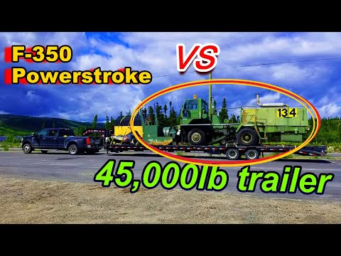 Ford F350 *REAL* MAX Towing TESTED!!! Powerstroke GETS STUCK On STEEP Grade. (We didn't make it up)