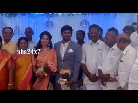 Ex TN CM O. Panneerselvam at Director R. Sundarrajan Son Wedding | nba 24x7