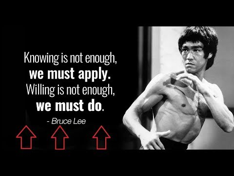 Bruce Lee 17 Poster Actor Film Motivation Hong Kong Quote Photo Black and White