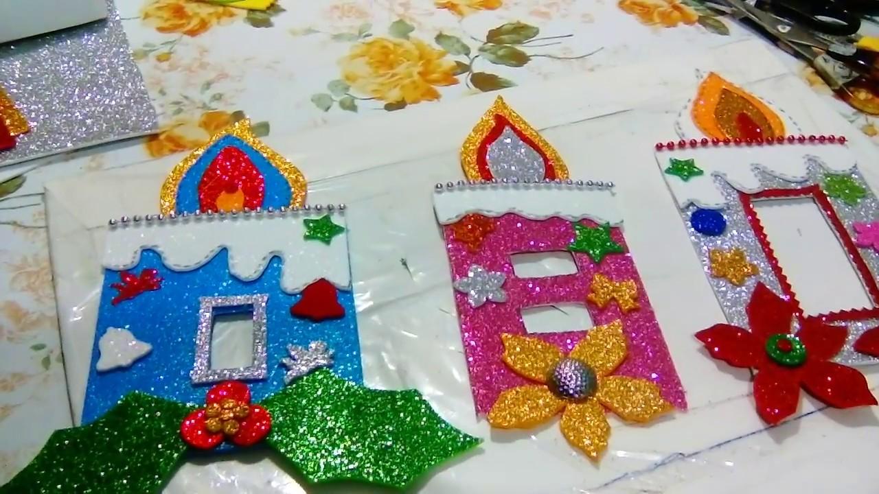 186 adorno navide o para interructores de luz de fomi - Decoraciones navidenas manualidades ...