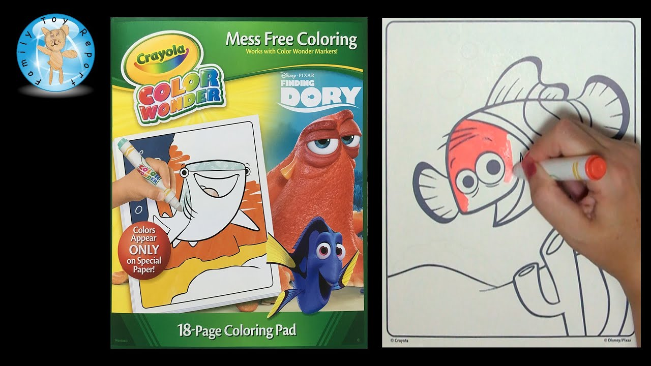 crayola disney pixar finding dory color wonder coloring book speed color family toy report - Color Wonder Coloring Books