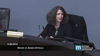 12/06/18 Zoning Appeals Board Meeting