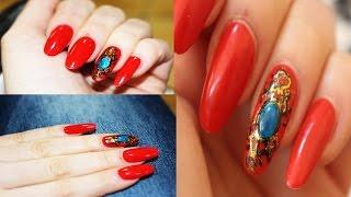 Жидкие камни и литье на ногтях, броши на ногтях гель-лаками