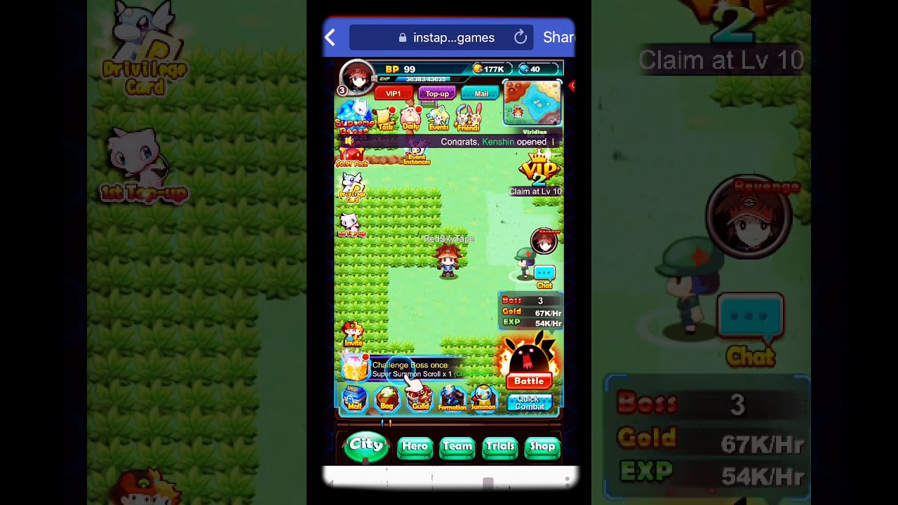 Pokemon Idle Facebook Game Youtube