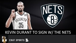 Kevin durant has agreed to a 4-yr, $164 mm contract with the brooklyn nets in nba free agency. will likely join kyrie irving & de'andre jordan a...