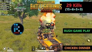 "[Hindi] PUBG MOBILE | ""29 Kills"" With Squad Rush Game Play & Chicken Dinner"