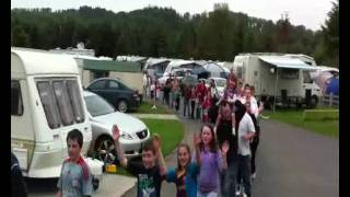 Conga Line at Hidden Valley Holiday Park, Rathdrum, Co. Wicklow, Ireland