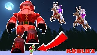BUILD A GIANT ROBOT SANTA & STOP THE GRINCH! 🎄 / Roblox: War on Grinchmas Christmas Tycoon