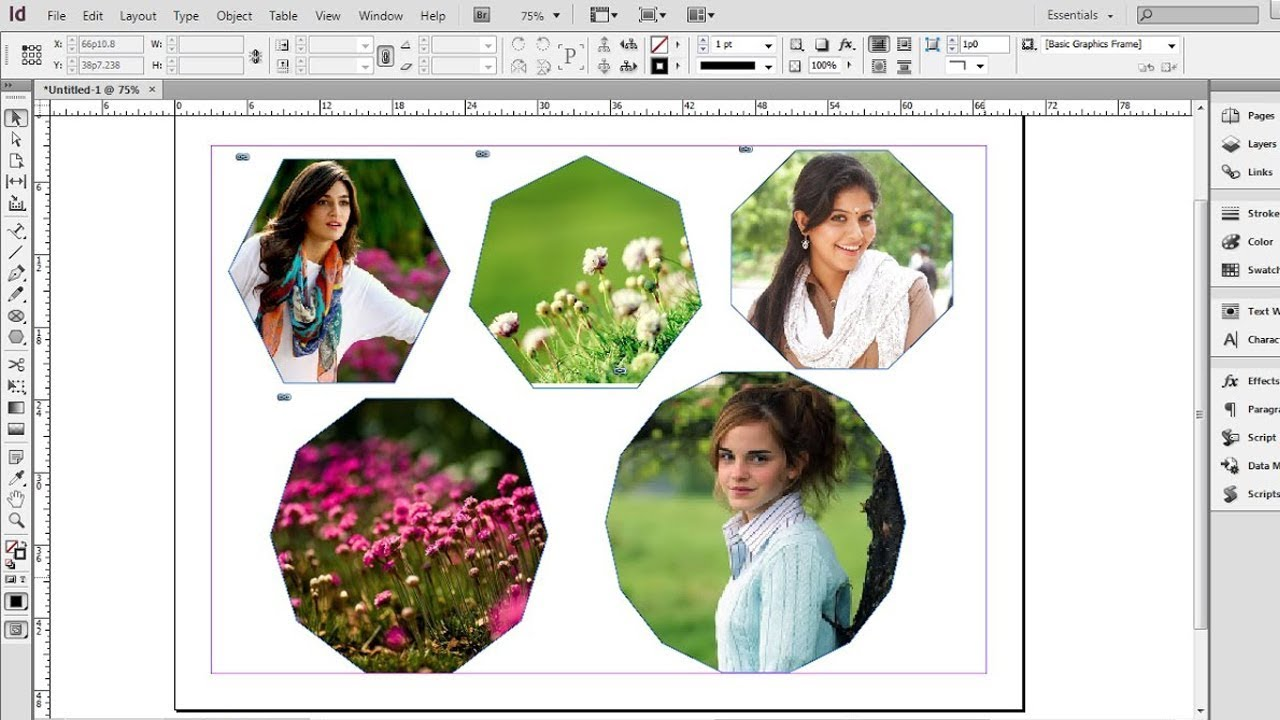 how to create a clipping mask in indesign