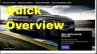 BMW Limited Edition Vehicles for 2019: A Quick Overview of BMW Special Cars