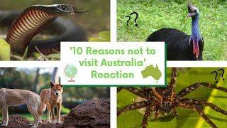 Reacting To '10 Reasons Not To Visit Australia (Aussie Reacts)' | RachelleDIY