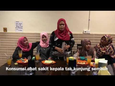 Testimoni Longrich Pi Water Cup Ibu Halimah di Sorek Riau